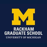 Rackham Graduate School logo with University of Michigan block M in yellow