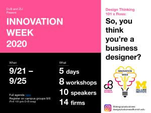 Design+Business Innovation Week 2020