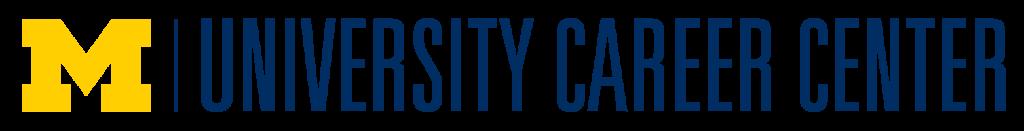 University Career Center logo with University of Michigan yellow block M.
