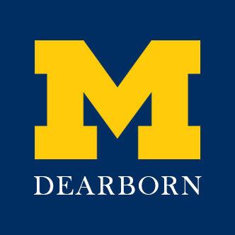 U-M Dearborn logo with block M