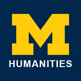 Institute for the Humanities. Image is of the University of Michigan yellow block M and the word humanities in all caps.